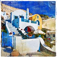 Farben Santorini Serie - künstlerische Bild