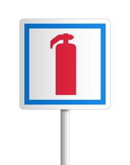 Panneau - moyen de lutte contre l'incendie