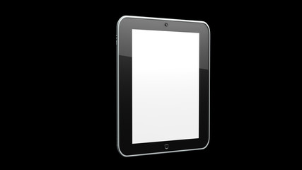 Tablet - Blanc Screen and Black BG
