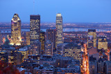 Montreal skyline by night