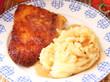 schnitzel mit Kartoffelpüree