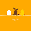 Easter Bunny, Egg & Chick Orange