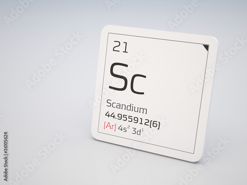 Scandium - element of the periodic table