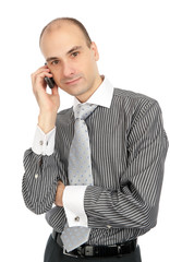 Business man calling on phone
