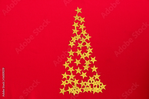 Christmas stars tree background