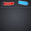 Cotton texture with paper label.
