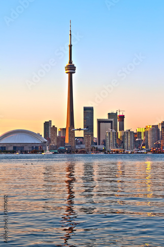 Papiers peints Grands Lacs Toronto city view