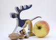Nüsse und Apfel