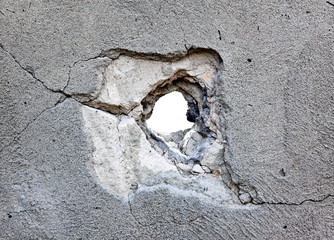 hole in the concrete