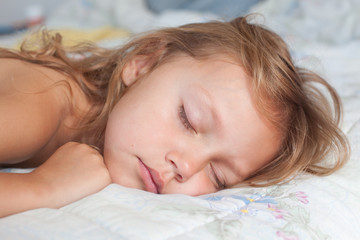 sleeping little girl portrait