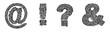 City alphabet punctutation