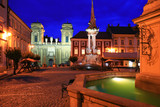 centre of mikulov city at night, czech republic
