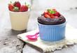 süßes Dessert mit Schokoladenkuche