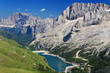 Fedaia pass and lake, Trentino, Italy