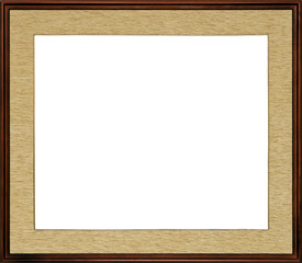 very special rustic wooden high quality frame with textile inner