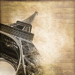 Tour Eiffel vintage, format carré
