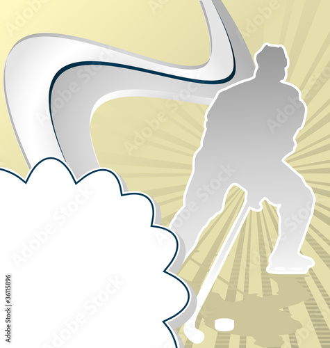 Sport Template Poster Hockey. Vector Illustration.