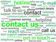 """CONTACT US"" Tag Cloud (customer service hotline call details)"