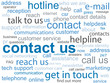 """CONTACT US"" Tag Cloud (customer service details hotline call)"