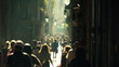 street crowd slowmotion