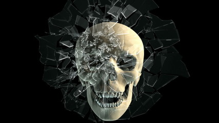 Skull breaking window
