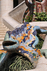 Salamander in Parc Guell, Barcelona