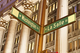 Intersection of Washington and La Salle poster