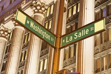 Intersection of Washington and La Salle