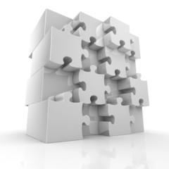 Blank big jigsaw puzzle