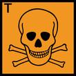 Gefahrstoffzeichen Giftige Stoffe Etiketten Symbol