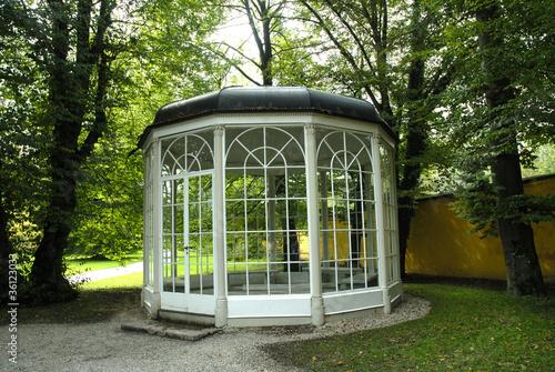 Leinwanddruck Bild Summerhouse used in Sound of Music film in Salzburg Austria