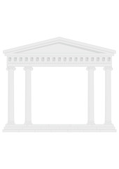 Portico (Colonnade), an ancient temple