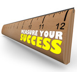 Measure Your Growth Ruler to Review and Assess Progress to Goal poster