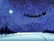 Santa into the christmas sky