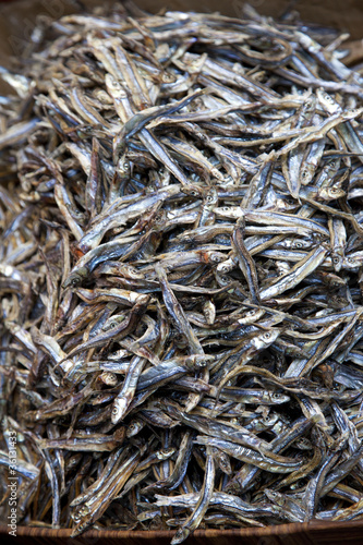 Dried silverfish at Hong Kong