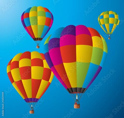In de dag Ballon hot air balloons in the sky