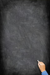 Blackboard / chalkboard - vertical hand writing
