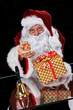 Santa Claus with big and small present