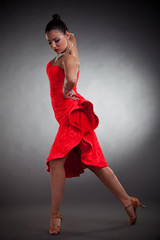 sensual latino dancer posing