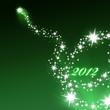 Grünes Feuerwerk Hintergrund 2012