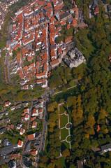 Luftbild einer Klein Stadt