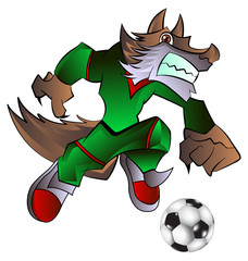 mascot playing football