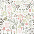 light seamless pattern with floral motif