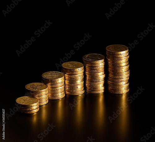 Stack of British Pound Coins