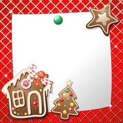 Biscotto Natale Auguri-Gingerbread Cookie greeting card