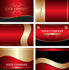 business cards vector templates set