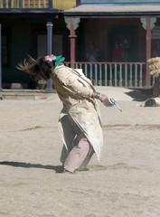 Cowboy Gunfight at Mini Hollywood, Almeria, Spain