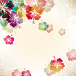 abstract background with hibiscus