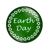 Earth Day button poster