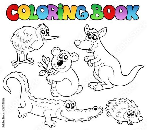 GamesAgeddon - Coloring book Australian animals 1 - Lizenzfreie ...